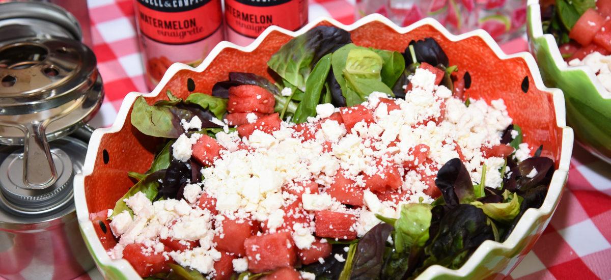 Green Salad with Watermelon & Feta